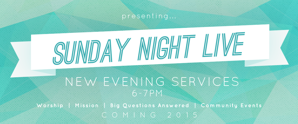 Sunday Night Live is a new hour long program from 6 to 7pm. Along with lively worship, we will hear talks on everyday issues we all face, hear from missionaries and […]